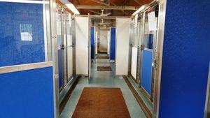 Blue kennels